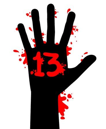 Blood hand splash Stock Vector - 16718300