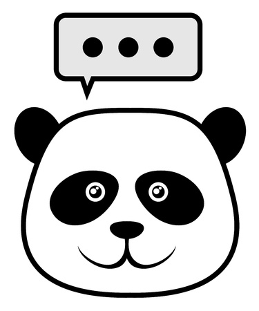 Adorable polar bear face Vector