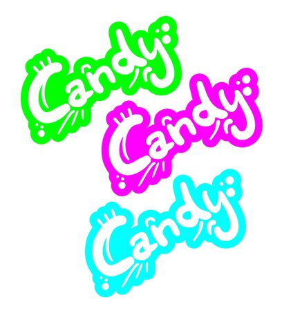 Candy color graffiti Stock Vector - 16718316