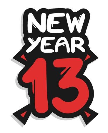 New year 13 art symbol Stock Vector - 16718299