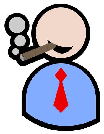 hombre fumando puro: Humo títere