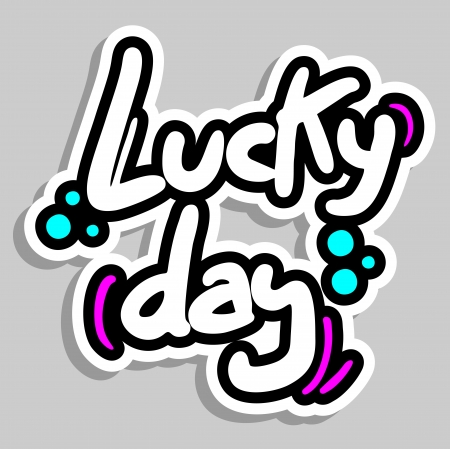 Lucky day sticker Stock Vector - 16718340