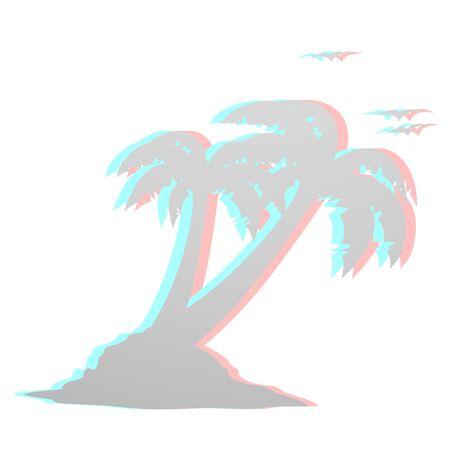dimensinal: Beach modern design Illustration