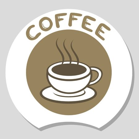 contemporary taste: Coffee elegant sign Illustration