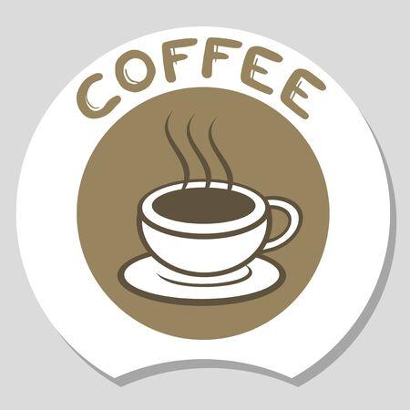 Koffie elegante teken