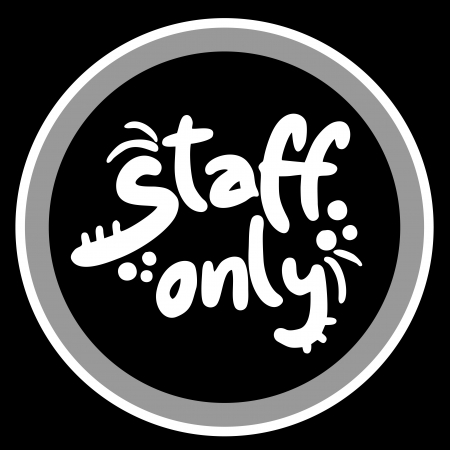 Staff only sign Stock Vector - 16718334