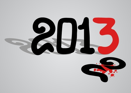 New 2013 year Stock Vector - 16718310