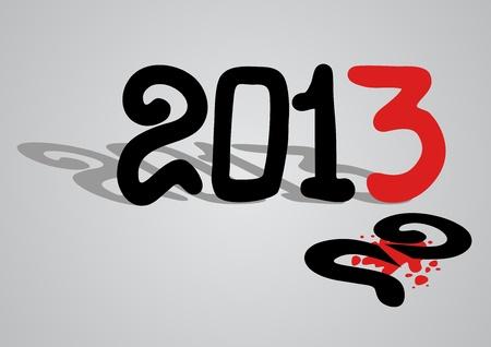 New 2013 year Stock Vector - 16718310