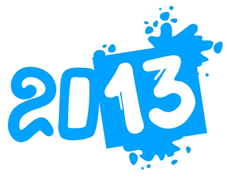 2013 art year Vector