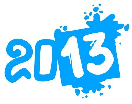 2013 art year Stock Vector - 16718285