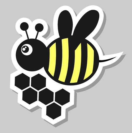 Bee sticker Vector