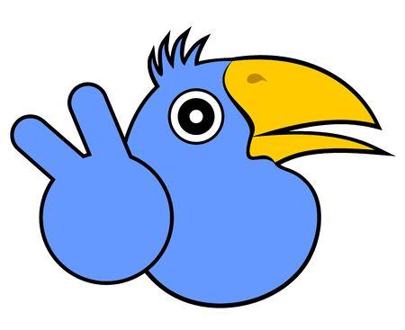 Happy bird Stock Vector - 16718257