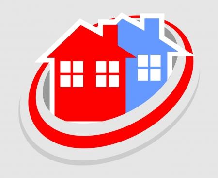 modern innovative: Home icon Illustration