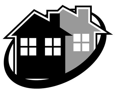 Elegant hostel symbol Stock Vector - 16816046