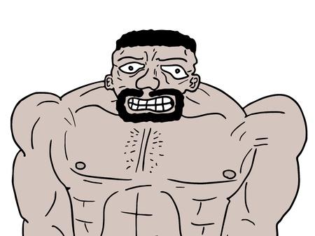 tough man: Muscle man