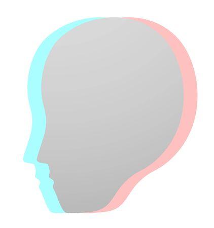 dimensinal: Face icon Illustration