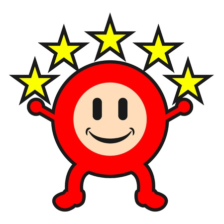 undertaking: Star smile puppet Illustration