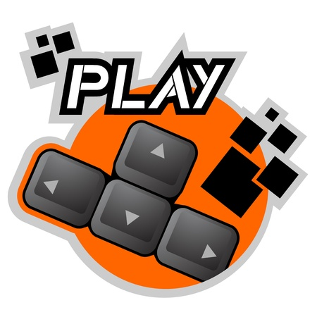Play cursor icon Stock Vector - 16816198