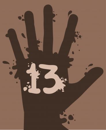 13 art hand design Stock Vector - 16816107