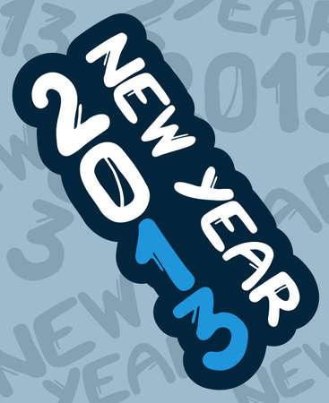 2013 new year art
