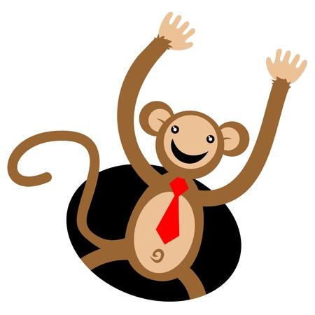 Happy monkey Stock Vector - 16974136