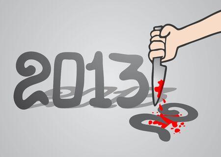 Kill year Stock Vector - 16970621