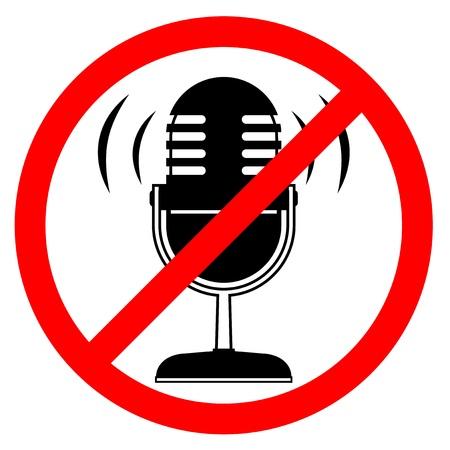 No sound Stock Vector - 16974130