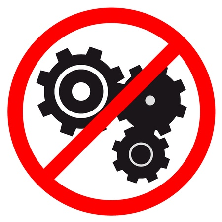 No machine Stock Vector - 16974135