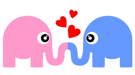 Kiss love animal sign Vector