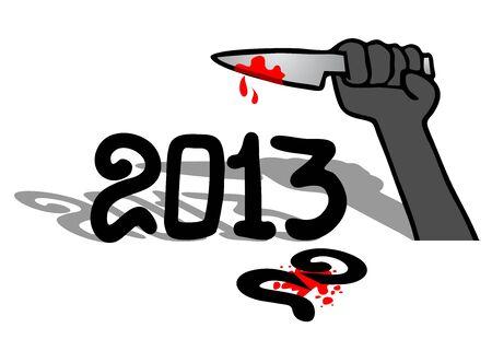 Kill year Stock Vector - 16974384