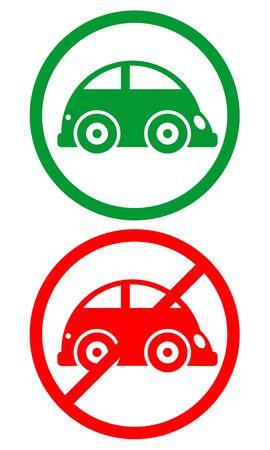 abolished: Traffic car sign