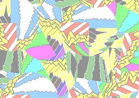 glued: Mosaic color background