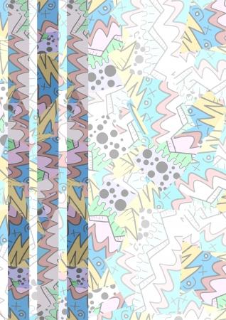 glued: Modern color art background Illustration