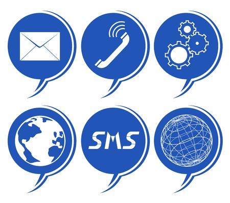 telegrama: Iconos de comunicación creativa Vectores