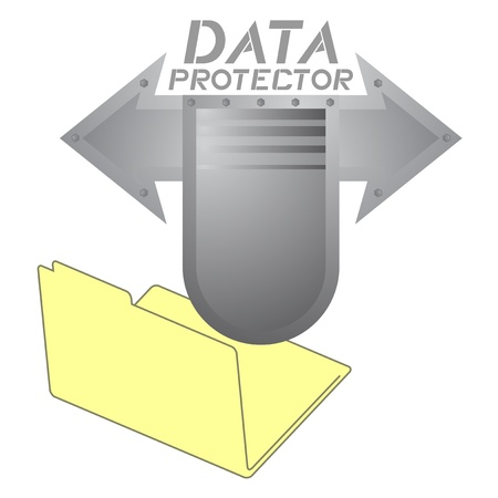 Data protector folder Stock Vector - 16974332