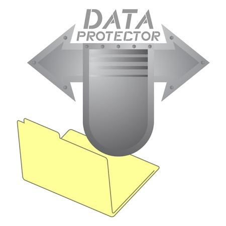 protector: Data protector folder Illustration
