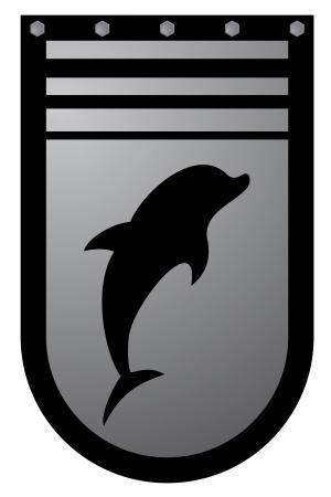Dolphin emblem Stock Vector - 16974319