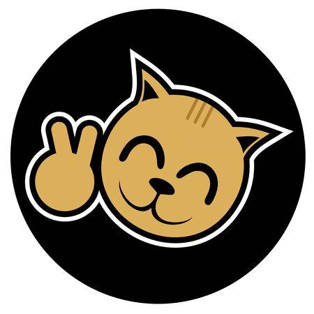 restless: Winner cat smile icon Illustration