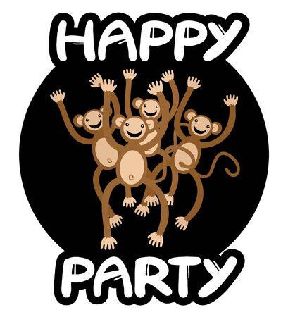 jumping monkeys: Happy party monkeys team icon