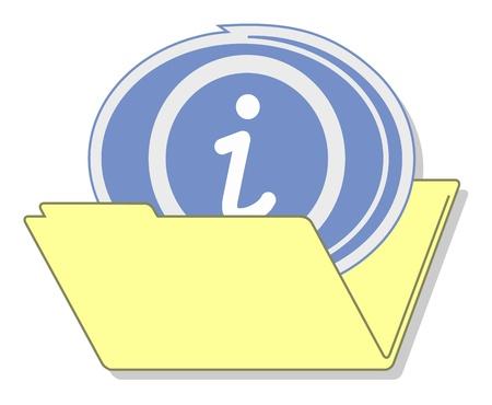 Info folder icon Stock Vector - 16974214