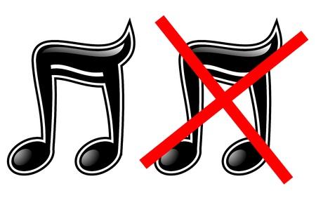 polyphony: Sound and no sound Illustration