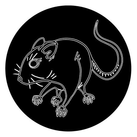 Black rat Stock Vector - 16974298