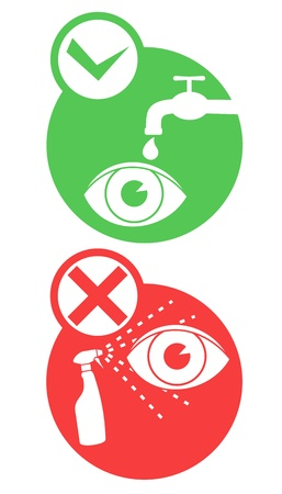 Danger eye icons Vector