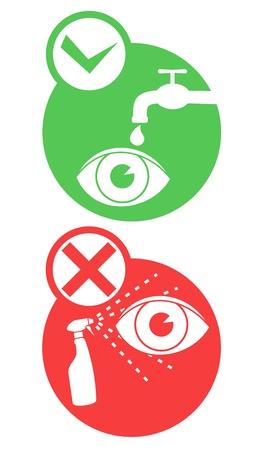 Danger eye icons Stock Vector - 16974231