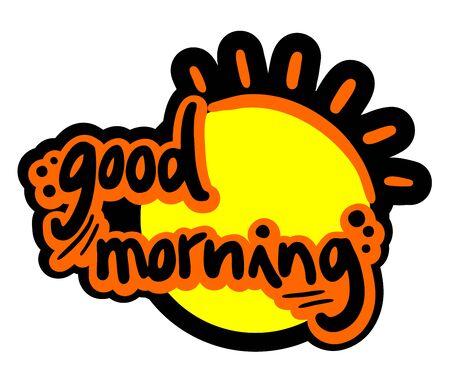 good morning: Good morning sun