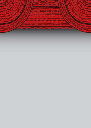 Red frame Stock Vector - 17113438