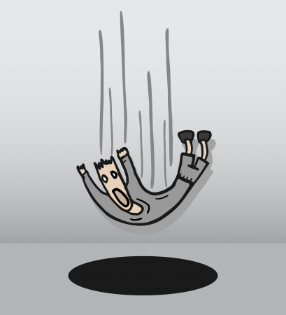 lie down: Danger hole