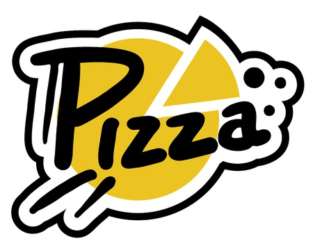 Pizza sticker Vector Illustratie