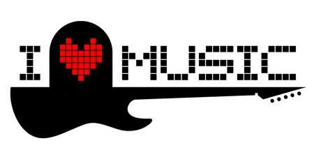 Love music message Vector