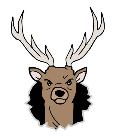 Deer draw Stock Vector - 17096630
